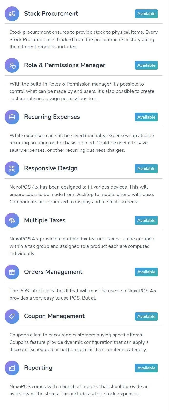 NexoPOS 4.x - POS, CRM & Inventory Manager - 1