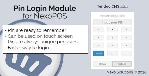 Pin Login Module for NexoPOS 3.x